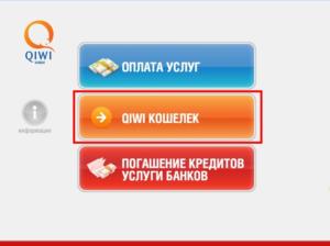 Нажимаем «QIWI-кошелёк»