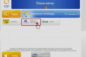 Перевод на карту VISA