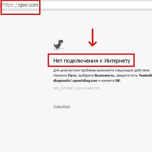 не открывается сайт со знаком
