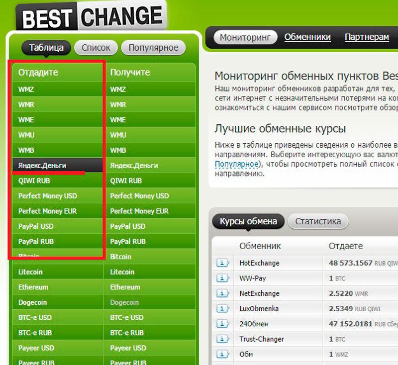Обмен Приват24 UAH на ЯндексДеньги RUB