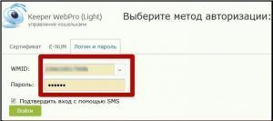 Вход WebPro