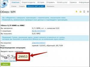 Подтверждение в WebPro