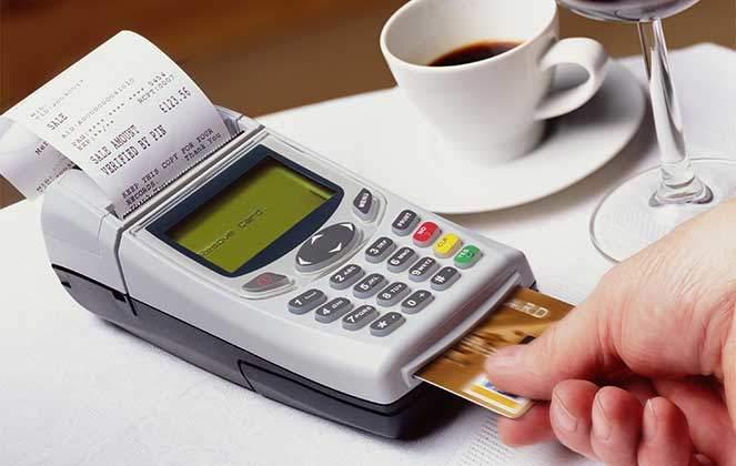 Оплата в кафе