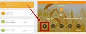 Кнопка «О кредите»