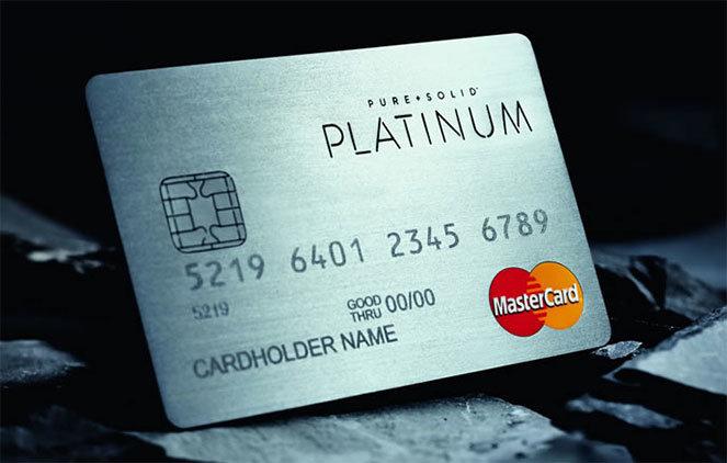 Пластиковая карта Platinum MasterCard