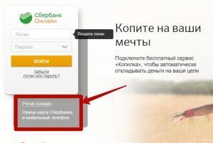 Выбор кнопки «Регистрация»