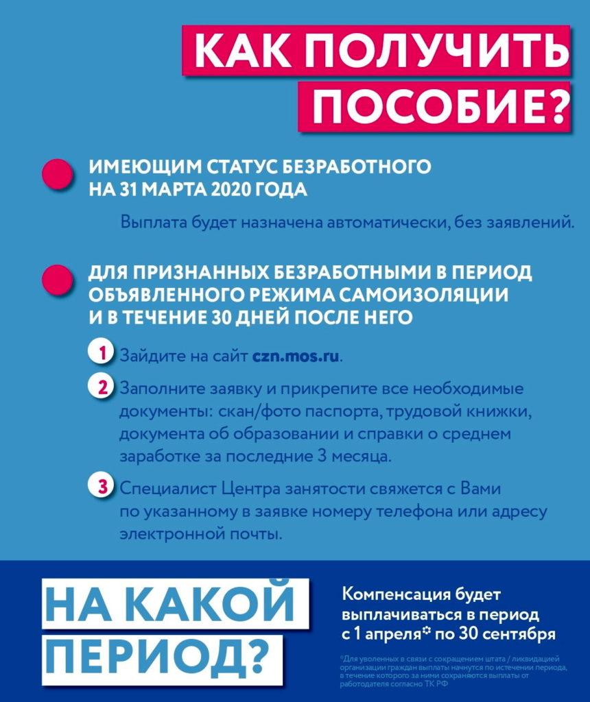 Как оформить пособие по безработице во время карантина в Москве и Московской области